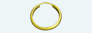 A 1064 Brass gold plated creole Half-round wire                   (Weight per pair) 0