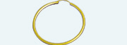 A 1103 Brass gold plated creole Round wire 2,00mm           (Weight per pair) 0