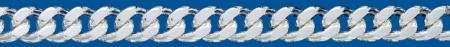 Cadena de plata BARBADA Lapidada 2 Caras
