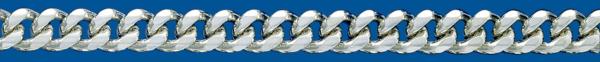 Cadena de plata BARBADA Lapidada 6 Caras