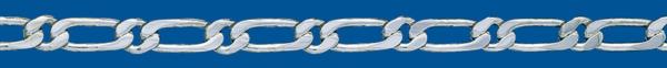 Cadena de plata BARBADA PROGRAMADA (1X1) Superpisada 2 Caras