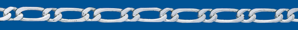 Cadena de plata BARBADA PROGRAMADA (1X1) Superpisada 4 Caras