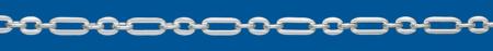 TRACE Silver chain Figaro (1X3)