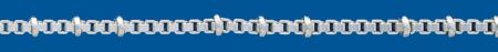 BOX CHAIN Silver chain Square Figaro (.X.)