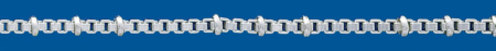 Cadena de plata VENECIANA Normal Lapidada