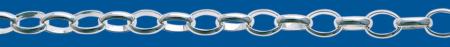 Cadena de plata ROLO Oval