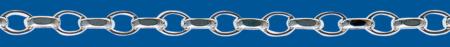 Cadena de plata ROLO Oval Diamantada