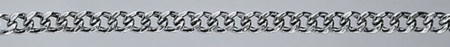 CURB Hollow silver chain 2 sided diamond cut