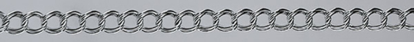 CURB Hollow silver chain Double
