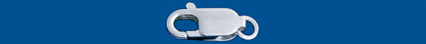 Fornitura de plata MOSQUETON No.1  (12x3mm)          (Peso por pieza)