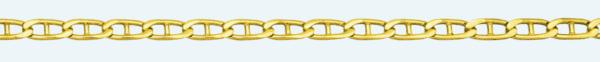 Cadena de oro 18Kt ANCLA Lapidada 2 Caras
