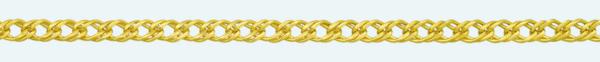 DOUBLE ROMBO 18Kt gold chain