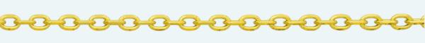 Cadena de oro 18Kt FORZADA Normal Lapidada