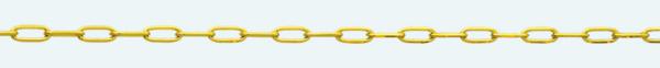 Cadena de oro 18Kt FORZADA Oval Diamantada