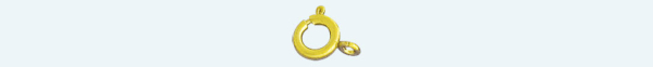 SPRING RING 18Kt gold finding 5mm                                   (Weight per piece)