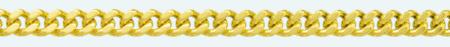 CURB 9Kt gold chain 2 sided diamond cut