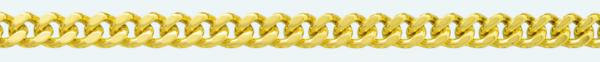 Cadena de oro 9Kt BARBADA Lapidada 2 Caras