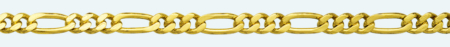 FIGARO 9Kt gold chain (1X3)