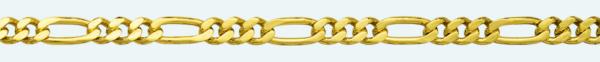 Cadena de oro 9Kt BARBADA PROGRAMADA (1X3)