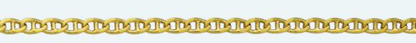 Cadena latón chapada en oro ANCLA Lapidada 2 Caras