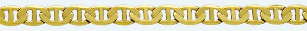 Cadena latón chapada en oro ANCLA Lapidada 6 Caras