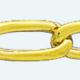 Cadena latón chapada en oro BILBAO Lapidada 2 Caras