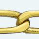 Cadena latón chapada en oro BILBAO Lapidada 4 Caras