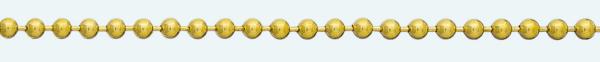 Cadena latón chapada en oro BOLAS Sin Diamantar