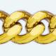Cadena latón chapada en oro BARBADA Lapidada 2 Caras