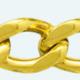 Cadena latón chapada en oro BARBADA Plana Lapidada 2 Caras