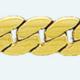 Cadena latón chapada en oro BARBADA Tupida Almendra