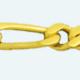 Cadena latón chapada en oro BARBADA PROGRAMADA (1X1) Lapidada 2 Caras