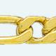 Cadena latón chapada en oro BARBADA PROGRAMADA (1X1) Lapidada 4 Caras