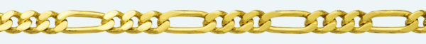 Cadena latón chapada en oro BARBADA PROGRAMADA (1X3) Lapidada 2 Caras