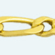 Cadena latón chapada en oro BARBADA PROGRAMADA (1X3) Lapidada 4 Caras