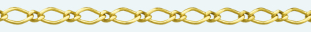 FIGARO ROMBO Brass gold plated chain (1X1)