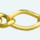 Cadena latón chapada en oro BARBADA PROGRAMADA ROMBO (1X1)