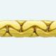 Cadena latón chapada en oro COBRA Almendra