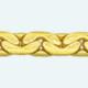 Cadena latón chapada en oro COBRA Plana