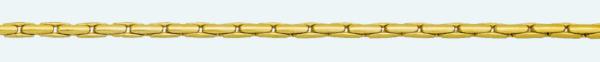 Cadena latón chapada en oro COBRA Redonda