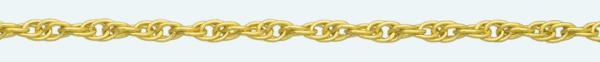 Cadena latón chapada en oro CORDONCILLO