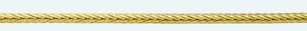 Cadena latón chapada en oro COLA ZORRO Cuadrada