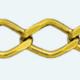 Cadena latón chapada en oro ROMBO