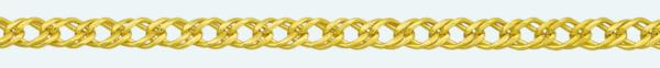 Cadena latón chapada en oro DOBLE ROMBO