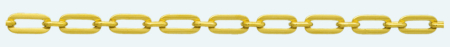 TRACE Brass gold plated chain Figaro (1X1)