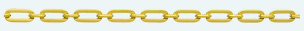Cadena latón chapada en oro FORZADA Programada Pisada (1X1)