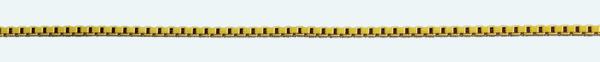 Cadena latón chapada en oro VENECIANA Normal Lapidada
