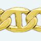 Cadena latón chapada en oro ANCLA (.X.)