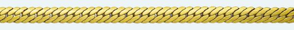 Cadena latón chapada en oro BARBADA Tupida