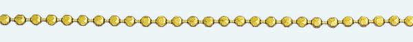 Cadena latón chapada en oro BOLAS Diamantada